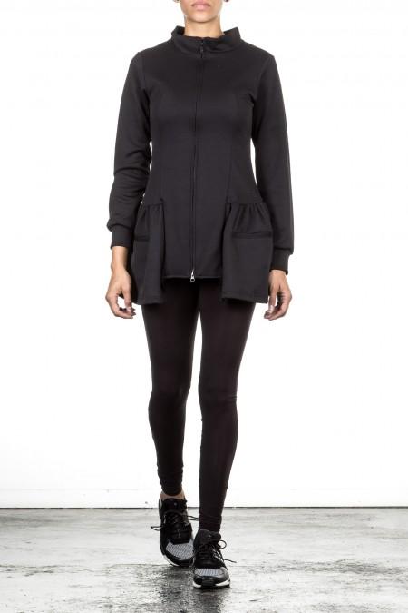 Y-3 Damen Sweat Jacke TRACK JACKET schwarz