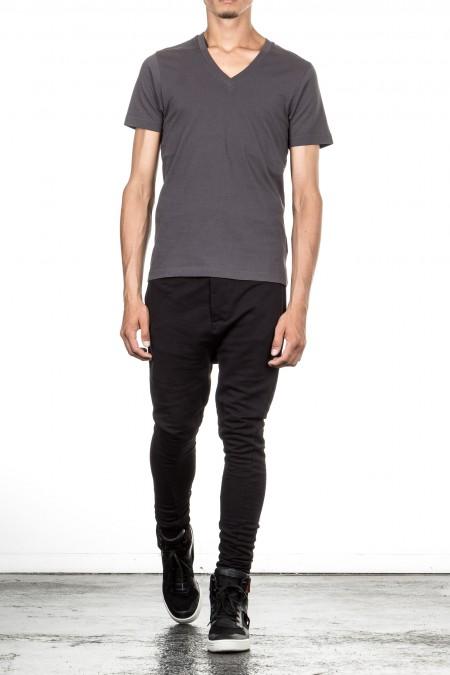 Y-3 Herren T-Shirt V-Neck grau