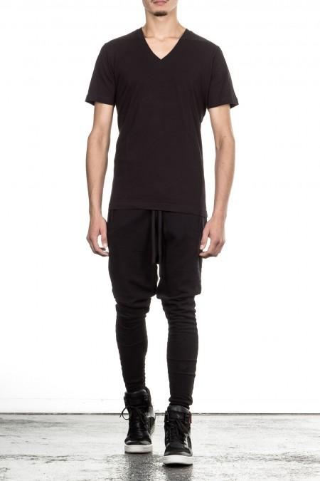 Y-3 Herren T-Shirt V-Neck schwarz