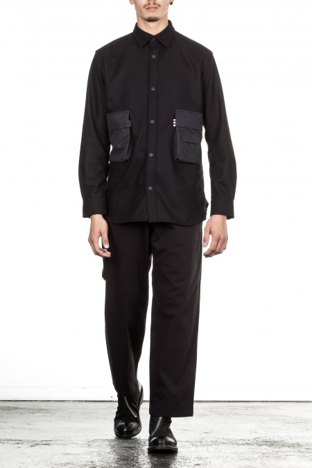 Y-3  Shirt Jacket black