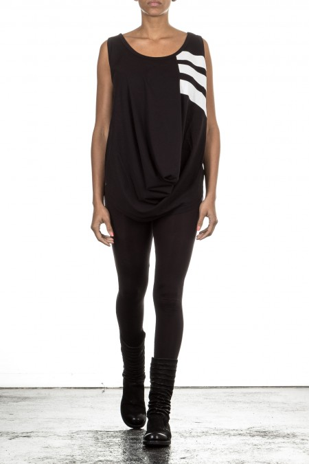 Y-3 Damen Tank Top STRIPES black