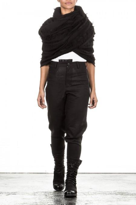Yohji Yamamoto Woll Schal schwarz
