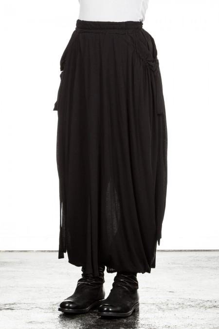 Yohji Yamamoto Damen Avantgarde Hosenrock schwarz