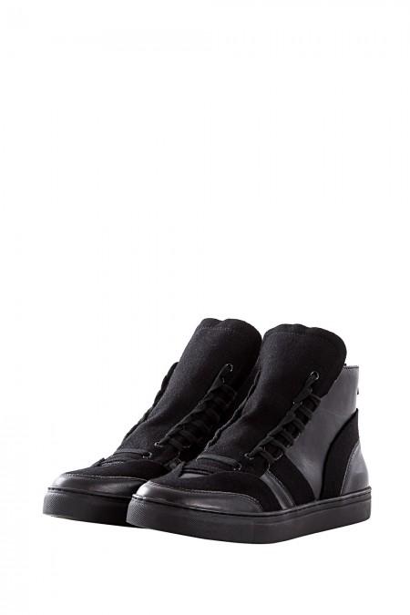 Yohji Yamamoto Back Zip Sneakers black