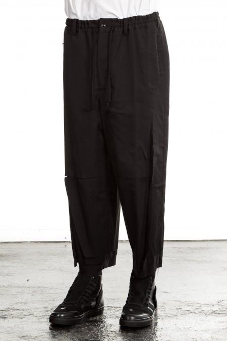 Yohji Yamamoto Herren Sarouelhose DIAGONAL CUT schwarz