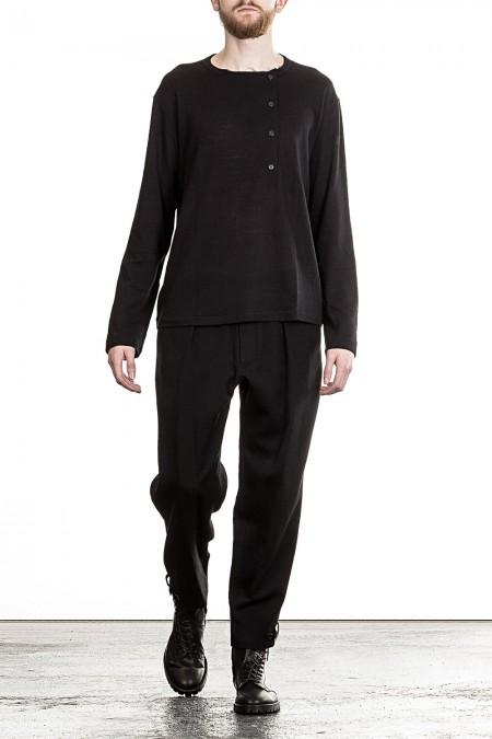 Yohji Yamamoto Herren Feinstrickpullover schwarz