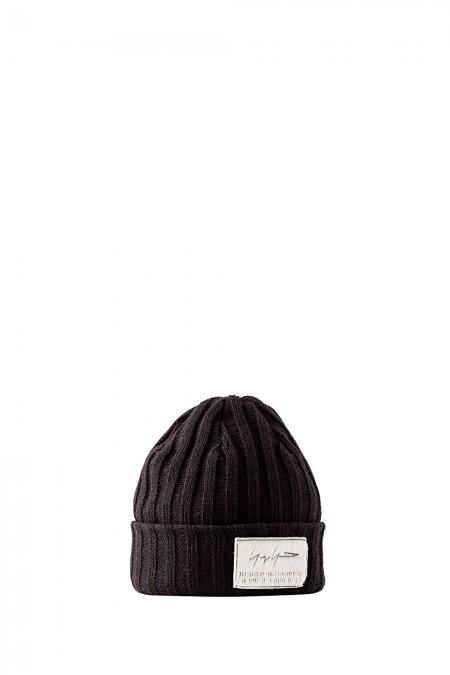 Yohji Yamamoto Strick Mütze Beanie schwarz
