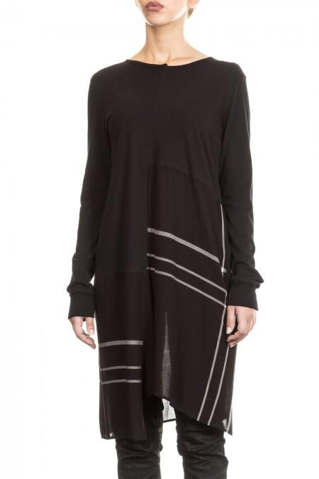 Y´s Yohji Yamamoto Damen Kleid Longsleeve asymmetrisch schwarz Gr. 2