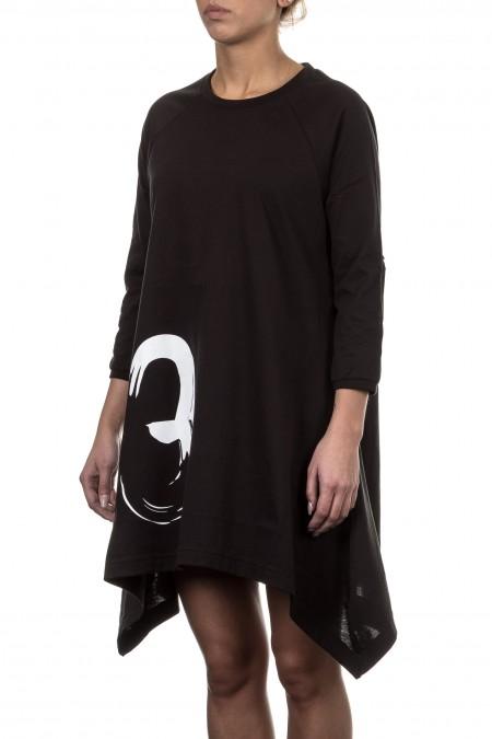 Y-3 Damen Kleid GRAPHIC TUNIC schwarz