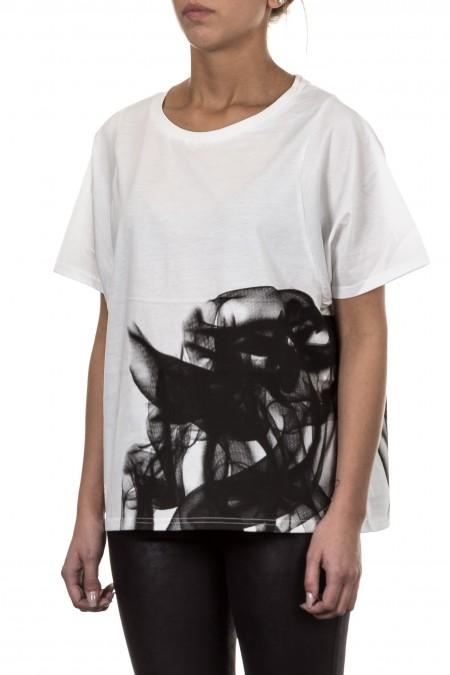 Y-3 Damen Shirt GRAPHC weiss