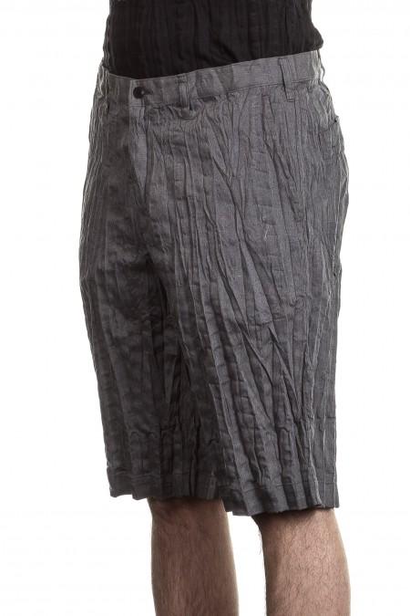 ISSEY MIYAKE Herren Shorts Crashed Look grau