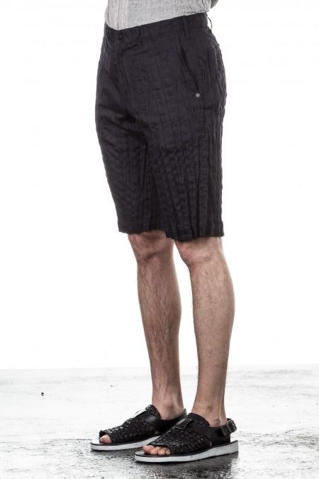 ISSEY MIYAKE Herren Shorts Crashed Look navy
