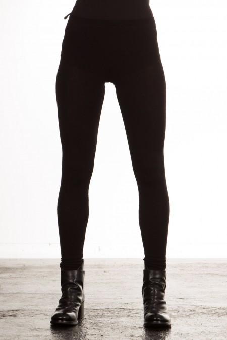 Masnada Damen Jersey Leggings schwarz