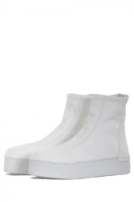 PURO Damen Leder Boots MAXIMALEFFORT weiß