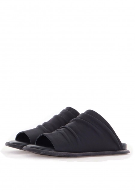 PURO Damen Leder Pantoletten Avantgarde CONDITIONERWOM schwarz