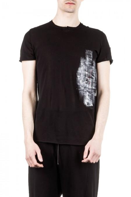 Isabel Benenato Herren Strick T-Shirt schwarz