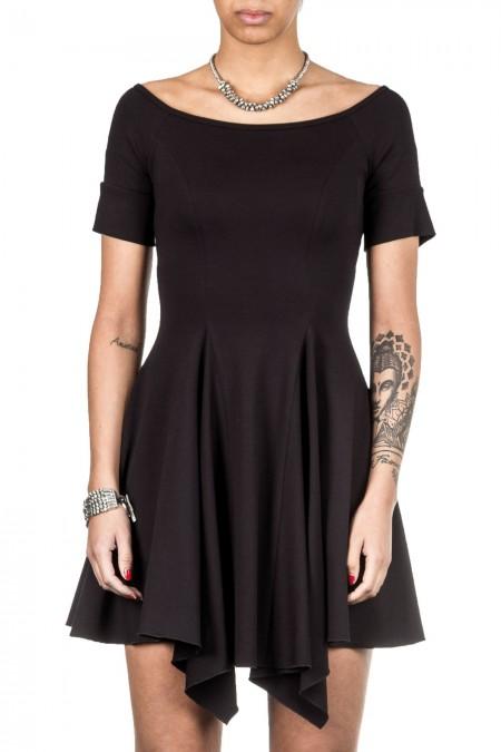 Plein Sud Jeanius Damen Jersey Kleid schwarz