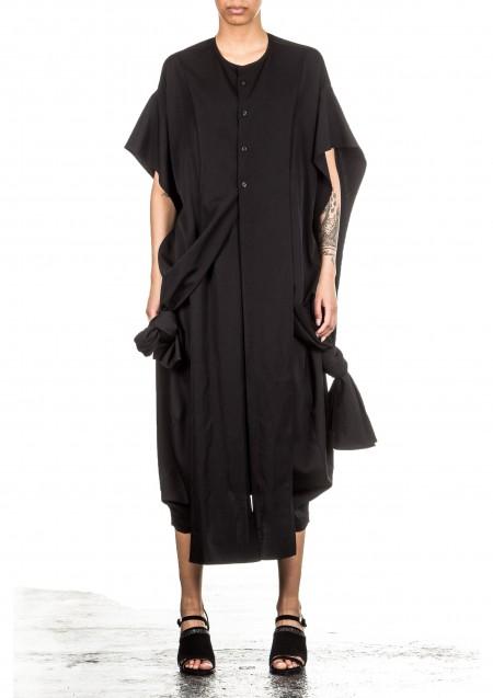 Yohji Yamamoto Damen Cape schwarz