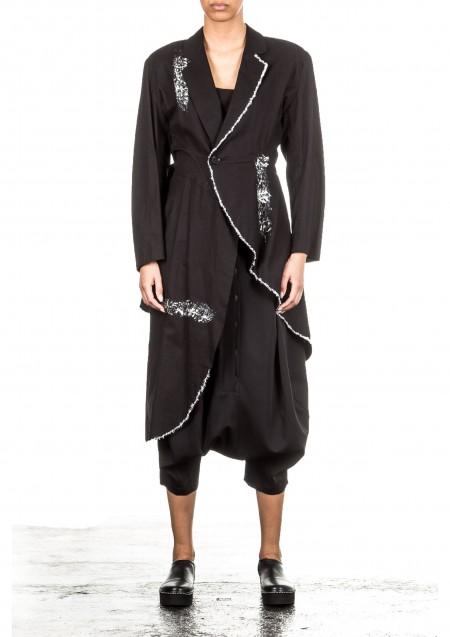 Yohji Yamamoto Damen Gehrock schwarz