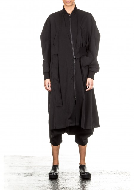 Yohji Yamamoto Damen Mantel schwarz