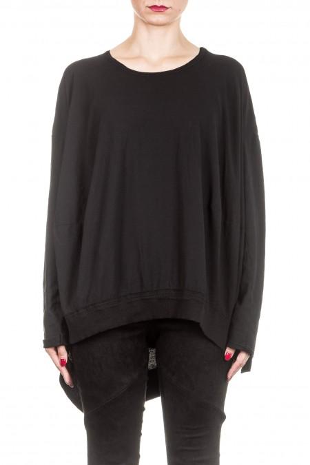 Rundholz Dip Damen Oversized Shirt schwarz