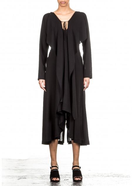 Yohji Yamamoto Damen Abendkleid schwarz