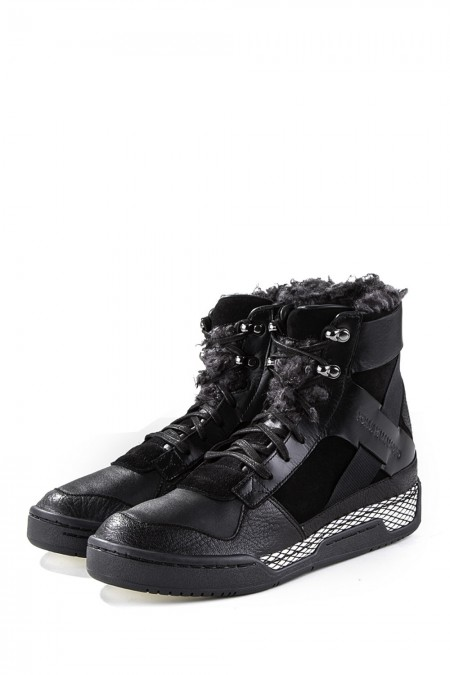 Y-3 Leder Sneakers HELD II black