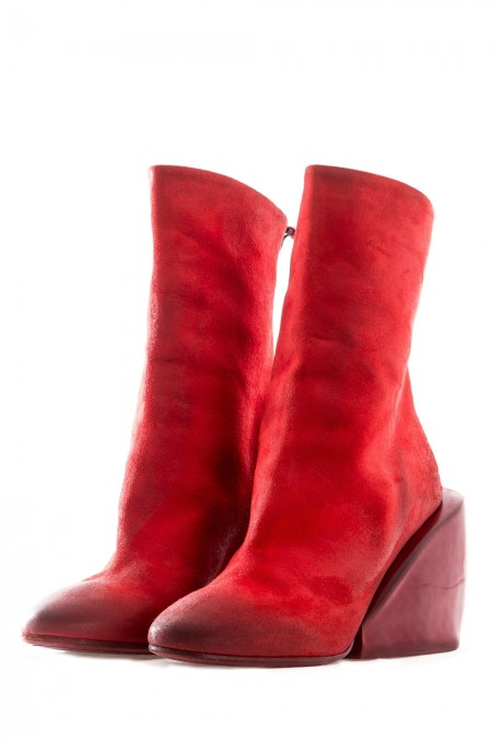 Marsèll Damen Stiefel mit Zip MASSICCIA rot