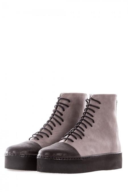 PURO Damen Lederschuhe Avantgarde FOOT DATE grau schwarz