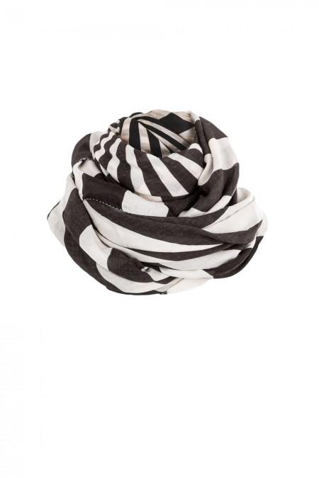 Rundholz Damen Tuch schwarz weiß