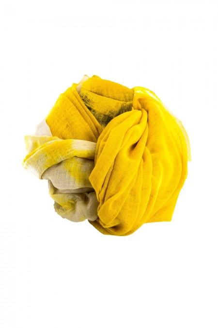 Suzusan Kaschmir Schal gelb