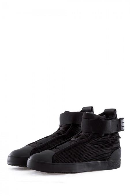 Y-3 Damen Sneaker LOOP COURD HIGH schwarz