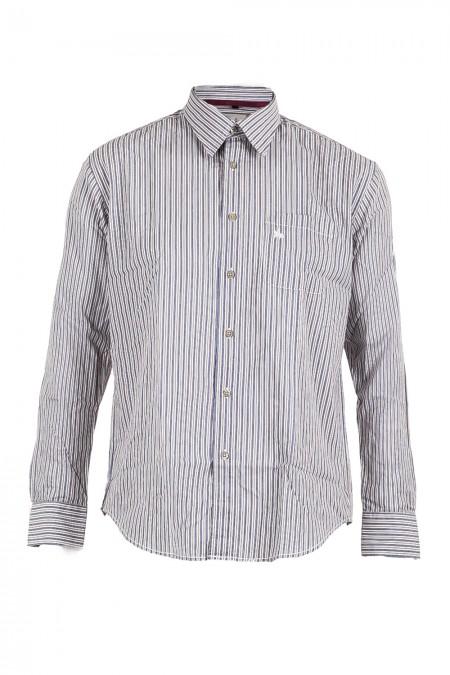 Gardeur Herren Hemd gestreift weiß blau