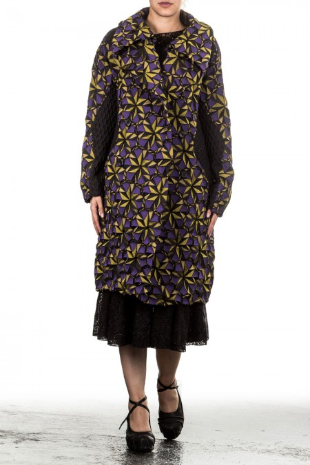 Issey Miyake Damen Mantel Avantgarde mehrfarbig