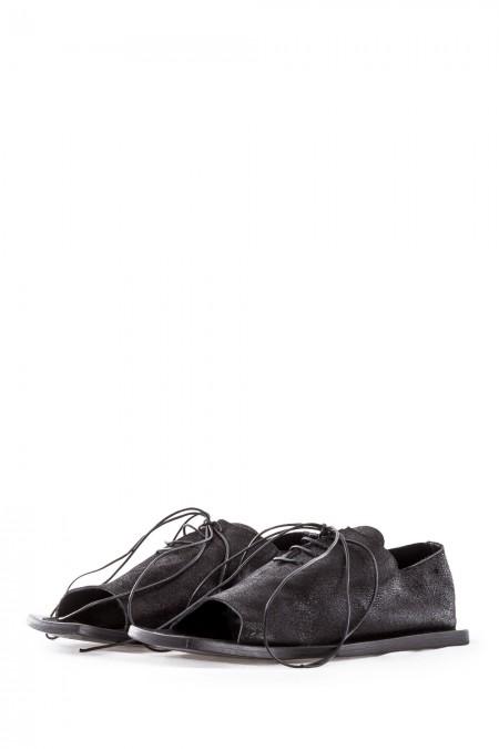 Rundholz Damen Sandalen schwarz