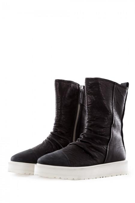 PURO Damen Leder Boots URBANLEGEND schwarz