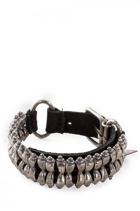 GOTI Armband BR203 schwarz silber