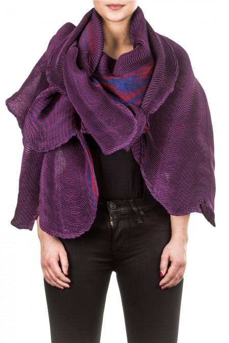 Issey Miyake Plissee Schal multicolour