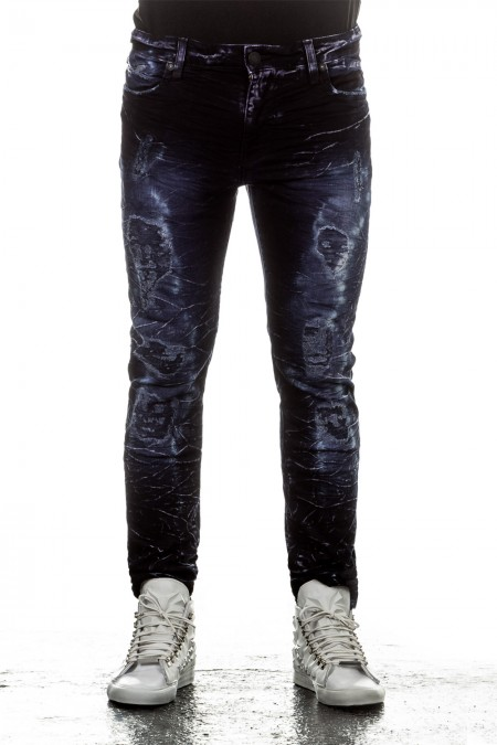 Robin`s Jean Herren Jeans NIGHT Slim Fit blau