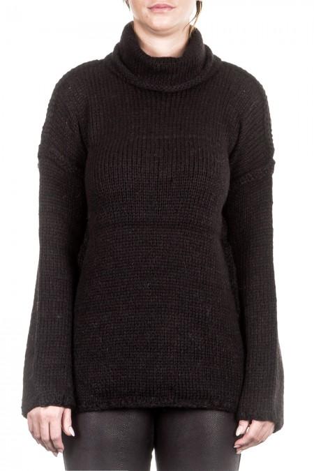 ONE ON ONE Damen Pullover DELICATE schwarz