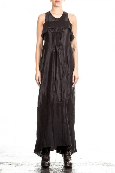 Masnada Damen Abendkleid schwarz