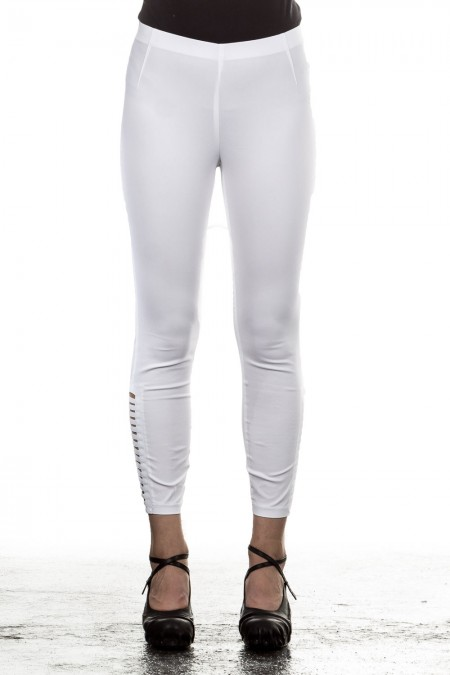 Minx Damen Hose ADI Cut-Out-Effekt weiß