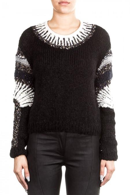 ONE ON ONE Damen Pullover MATURE schwarz weiß