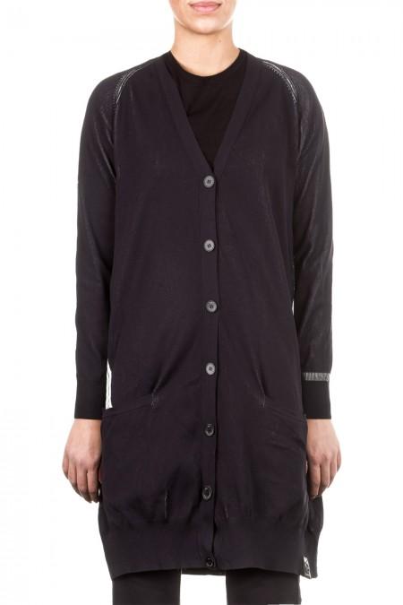 Y-3 Damen Cardigan oversized schwarz