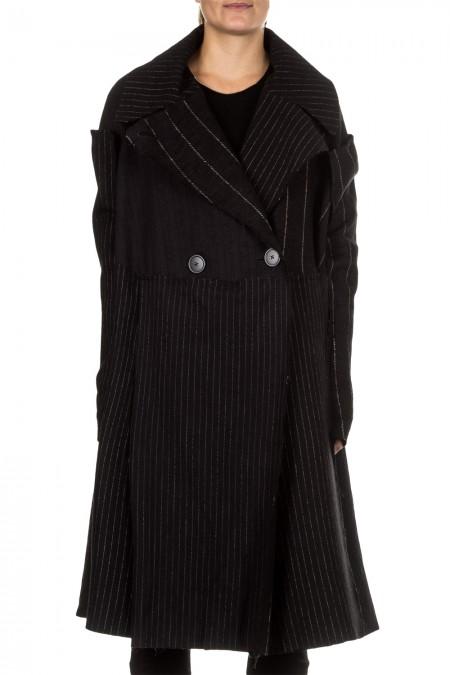 Rundholz Damen Mantel Oversized schwarz
