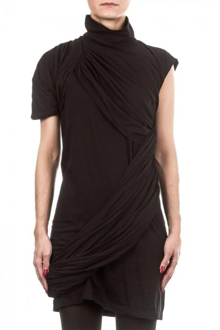 Rick Owens DRKSHDW Damen Kleid drappiert schwarz