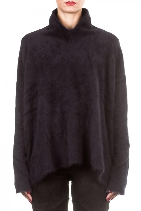 Rundholz Damen Racoon Pullover oversized dunkelblau