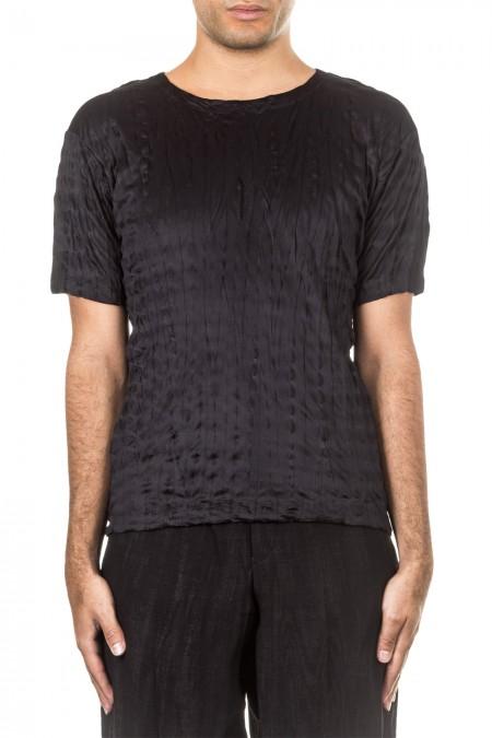 ISSEY MIYAKE Herren T-Shirt Crashed Look TORUS KANOKO schwarz