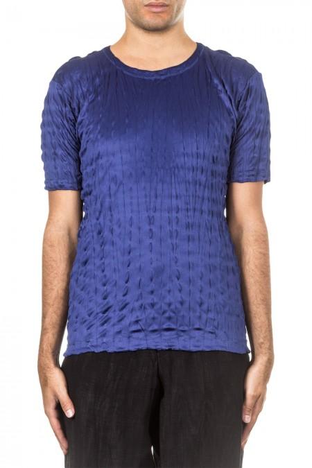 ISSEY MIYAKE Herren T-Shirt Crashed Look TORUS KANOKO blau