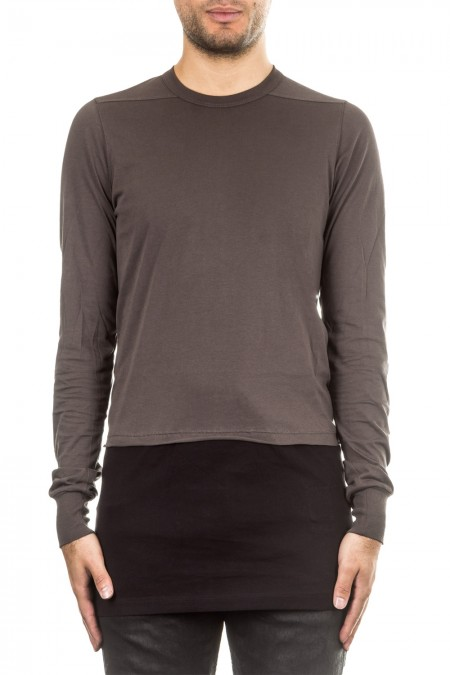 Rick Owens DRKSHDW Herren Langarm Shirt schwarz